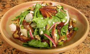 Medjool Date Spinach and Apple Salad