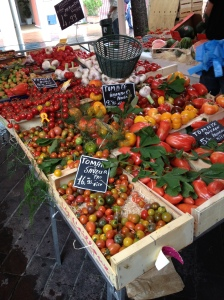 Tomato heaven at a marketplace in Nice