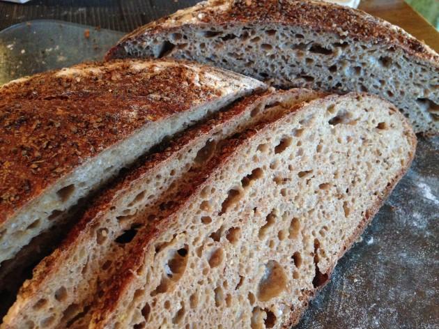 Sprouted quinoa/spelt bread  Naoto Sato