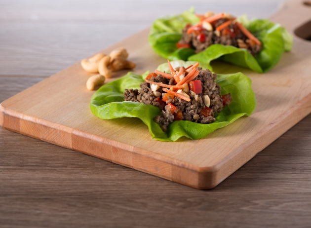 Mushrooms-asian lettuce wraps