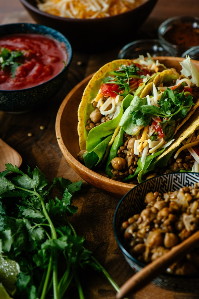 Pulse Taco lentil and chickpeas